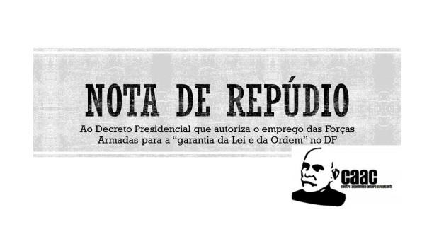 NOTA DE REPÚDIO - CAAC
